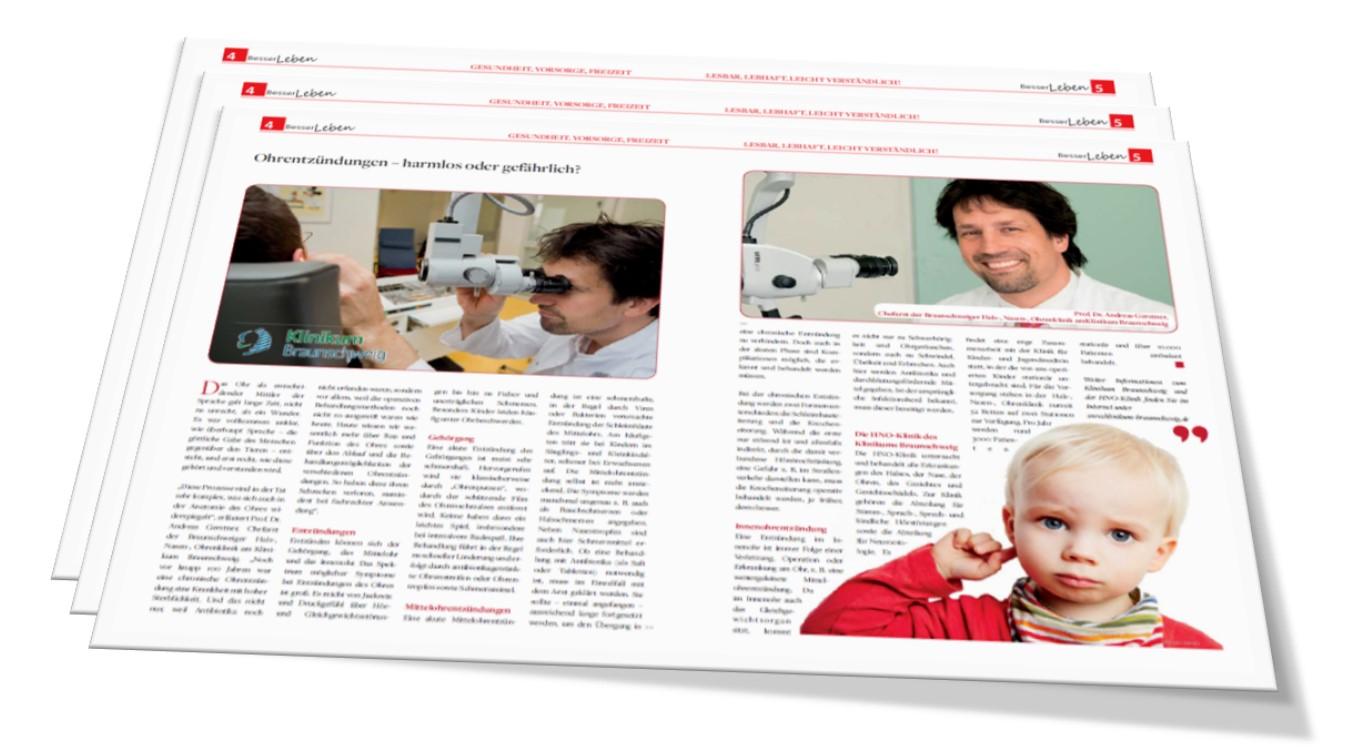 Publikation des Klinikums für die gezielte Ansprache des in EOH® identifizierten Zielmarktes